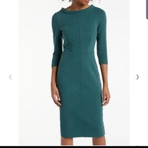 Boden Marisa Ottoman evergreen teal dress J009